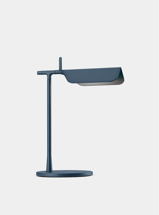 Matt Blue Tab Table Lamp