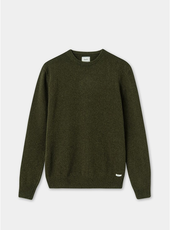 Dark Army Slow Lambswool Knit