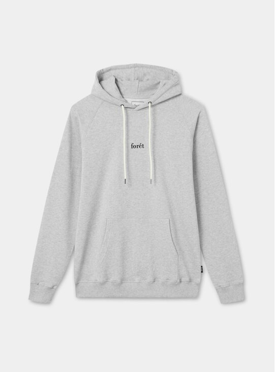 Light Grey Melange Bison Hoodie