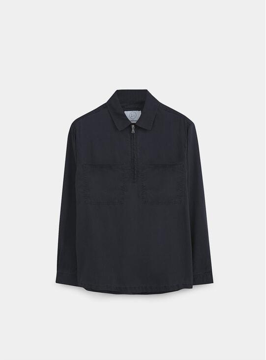 Midnight Navy Half-Zip Work Shirt