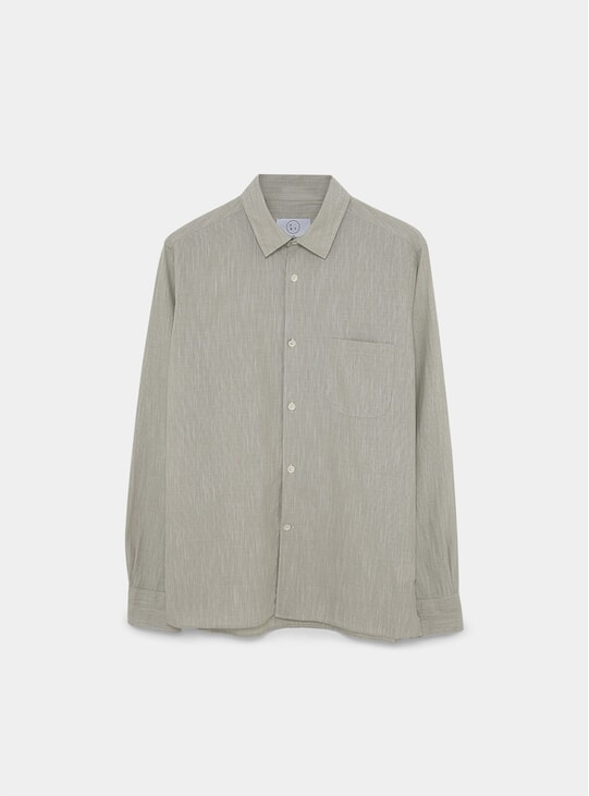 Olive Fine Stripe Essential Shirt