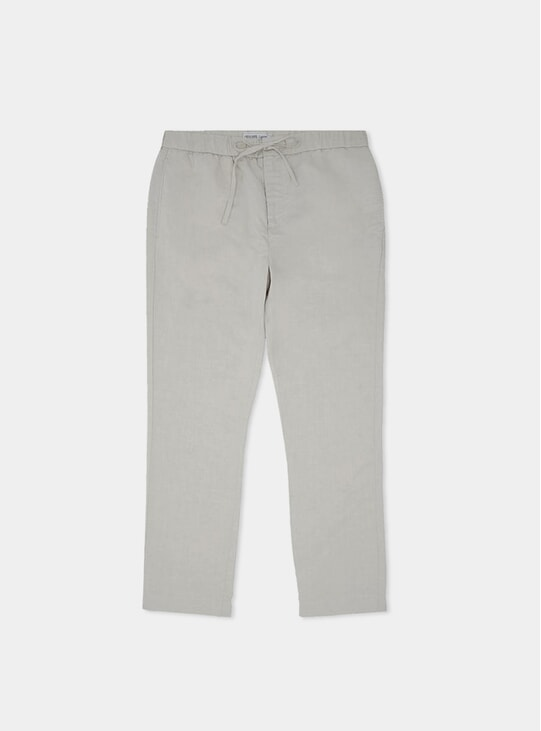 Grey Melange Sports Tencel-Linen Chino