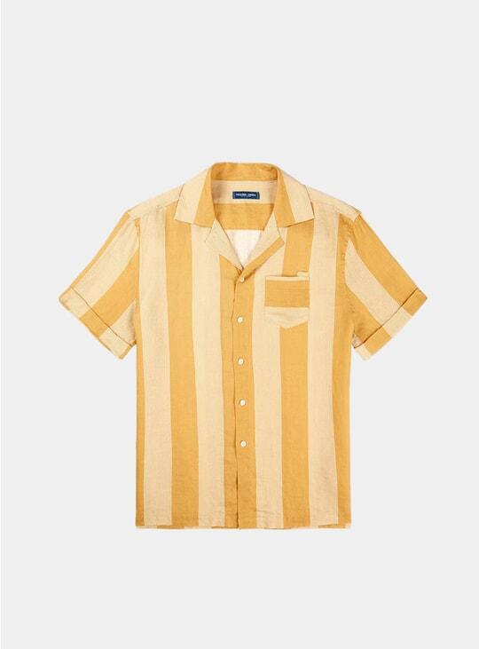 Twine / White Cabana Stripe Camp Collar Shirt
