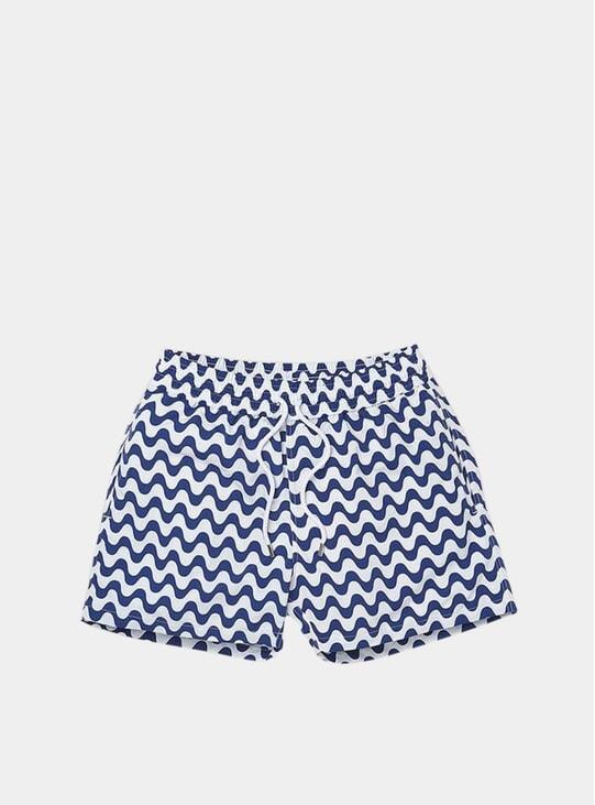 Navy Blue / White Copacabana Sport Swim Shorts