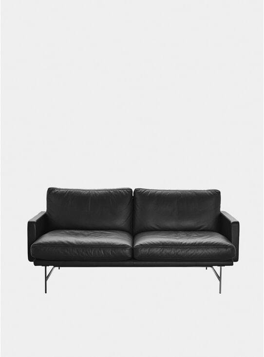 Black Grace Leather Lissoni Sofa