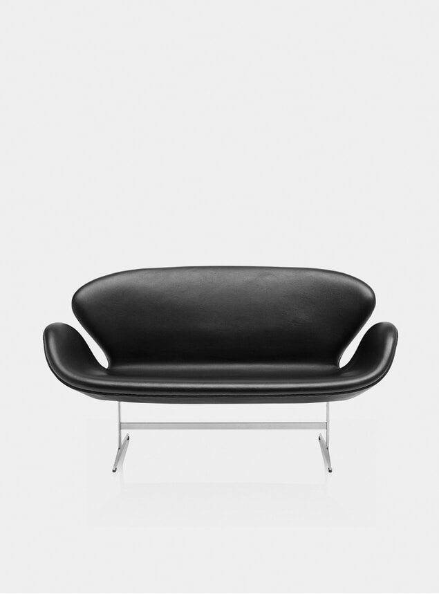 Black Grace Swan Sofa
