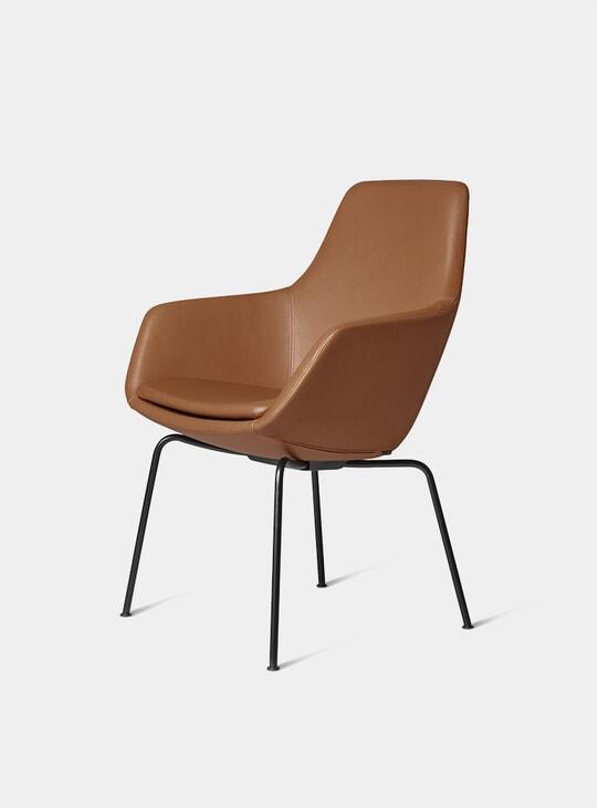 Grace Leather / Walnut Little Giraffe Chair