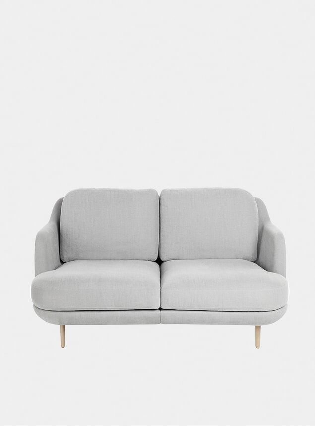 Grey Lune 2-Seater Sofa