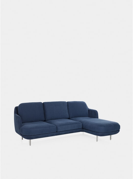 Indigo Lune Fabric Lissoni Sofa
