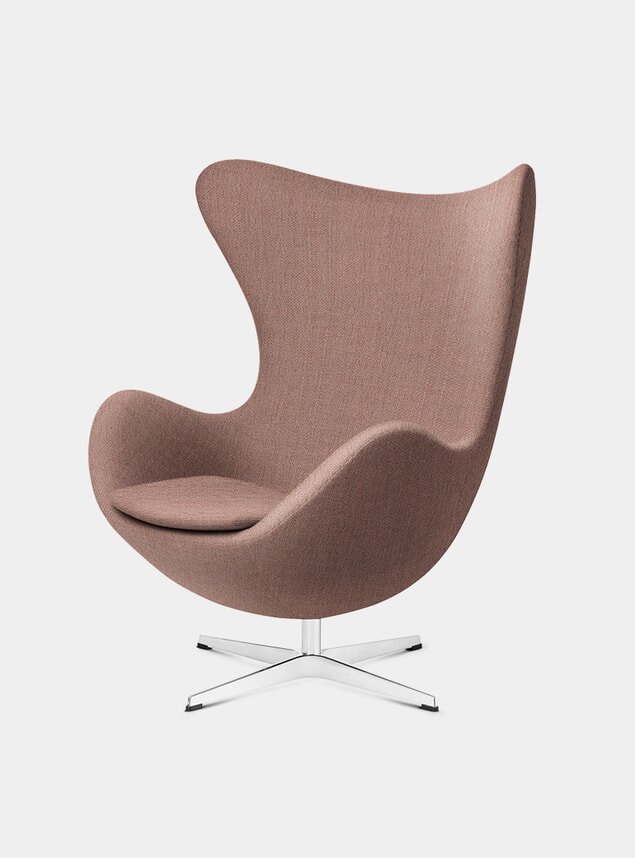Orange / Red Fabric EGG Lounge Chair