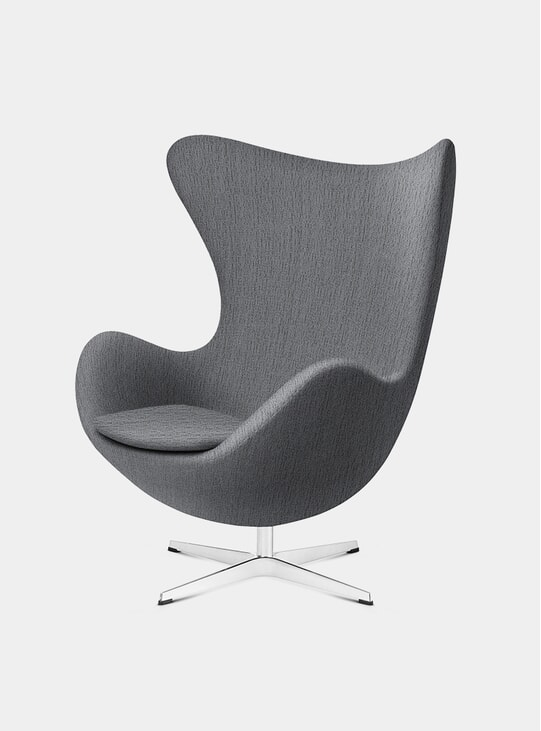 Light Grey Fabric EGG Lounge Chair
