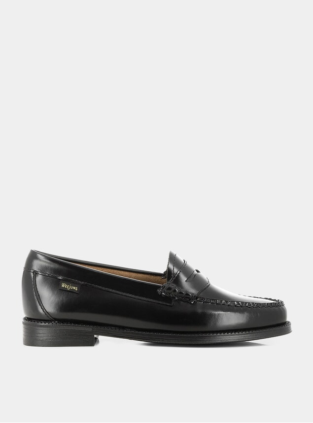 Black Easy Weejuns Leather Penny Loafers