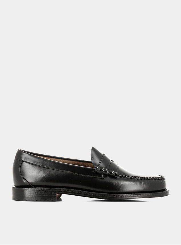 Black Leather Weejuns Larson Penny Loafers
