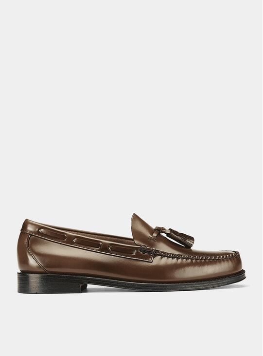 Mid Brown Leather Weejuns Larkin Tassel Loafers