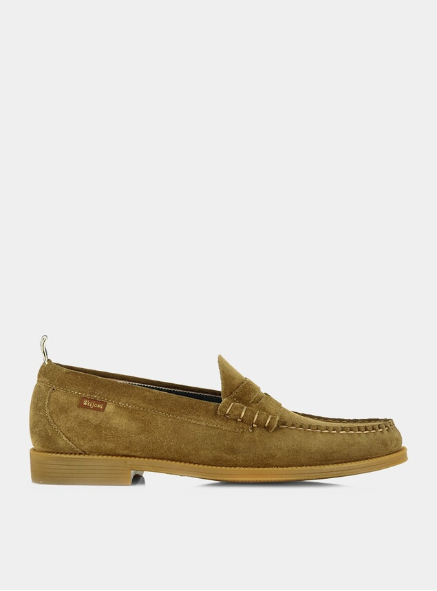 Mid Brown Suede Easy Weejuns Larson Loafers