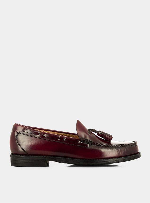 Wine Larkin Easy Weejuns Leather Loafers