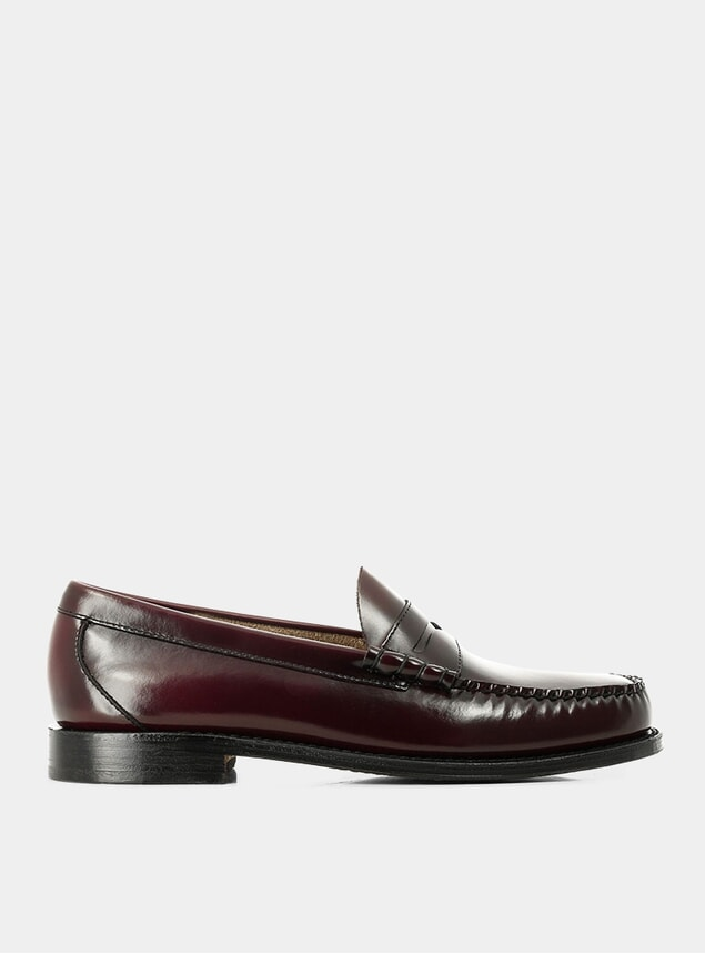 Wine Leather Weejuns Larson Penny Loafers