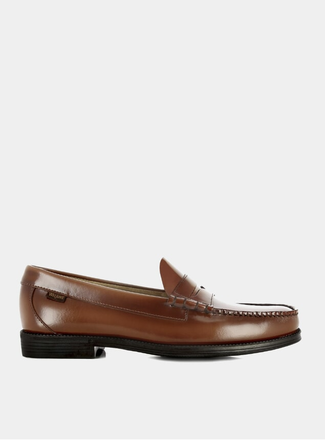 Mid Brown Easy Weejuns Larson Penny Loafers