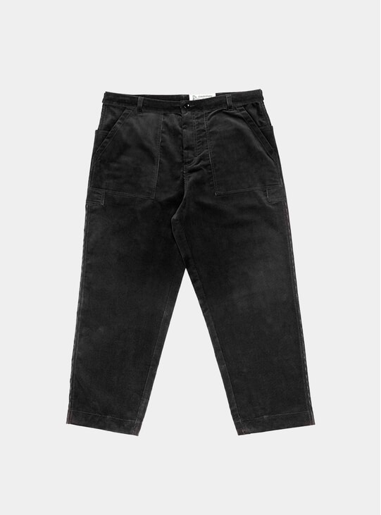 Black Corduroy Storage Pants