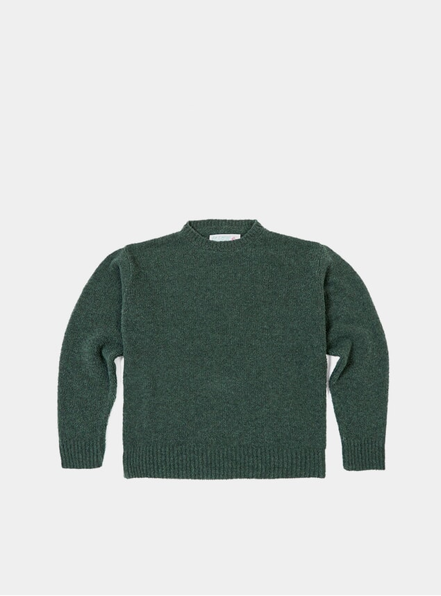 Green TED Boucle Crew Neck