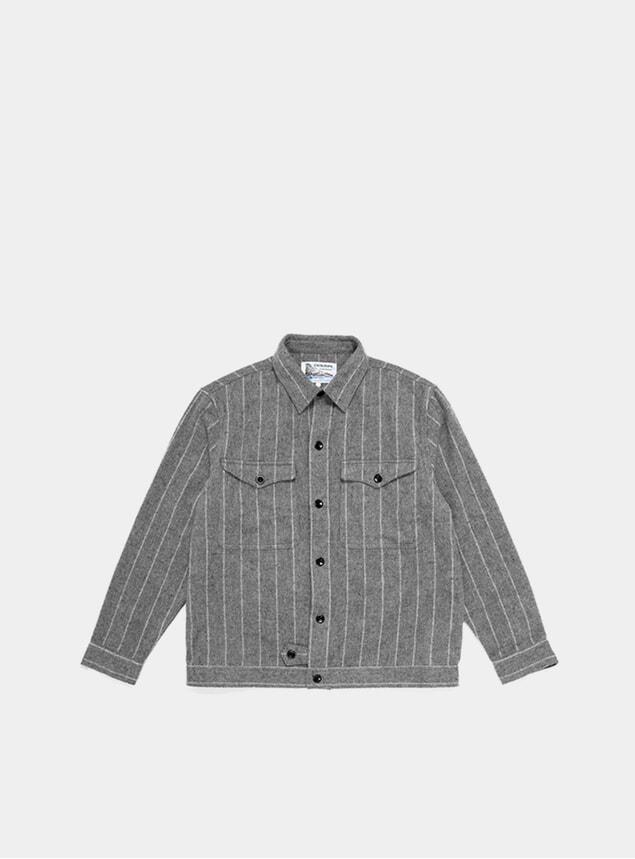 Grey Wool CPO Shirt