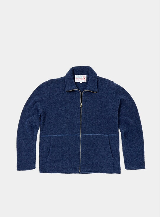Navy TED Boucle Zip Up