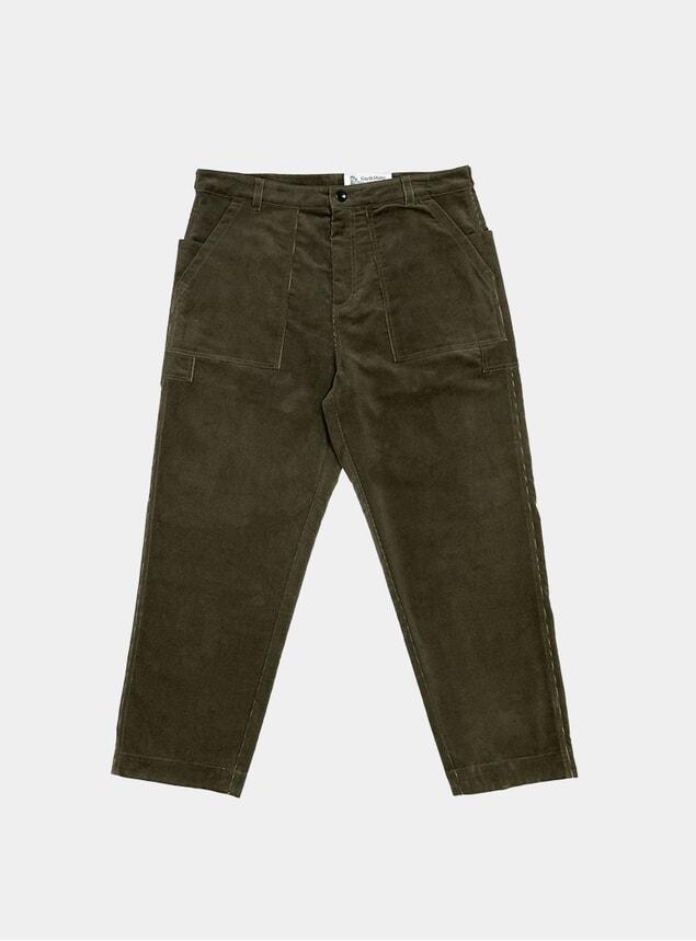Olive Corduroy Storagee Pants