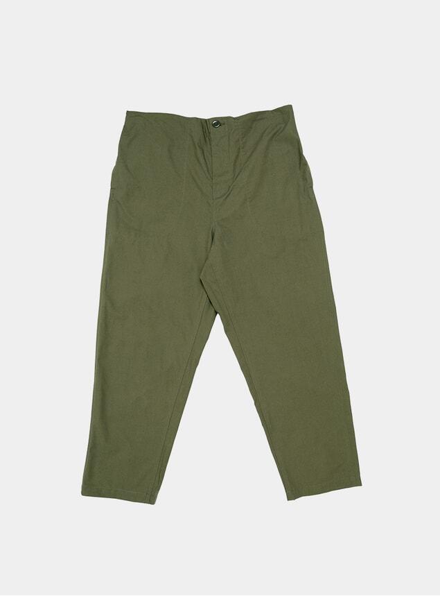 Olive Work Easy Pants