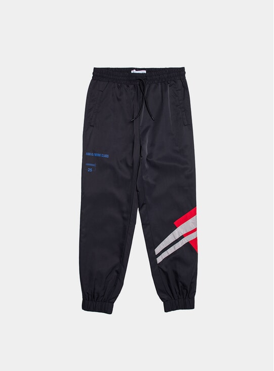 Black Colour Block Track Pants