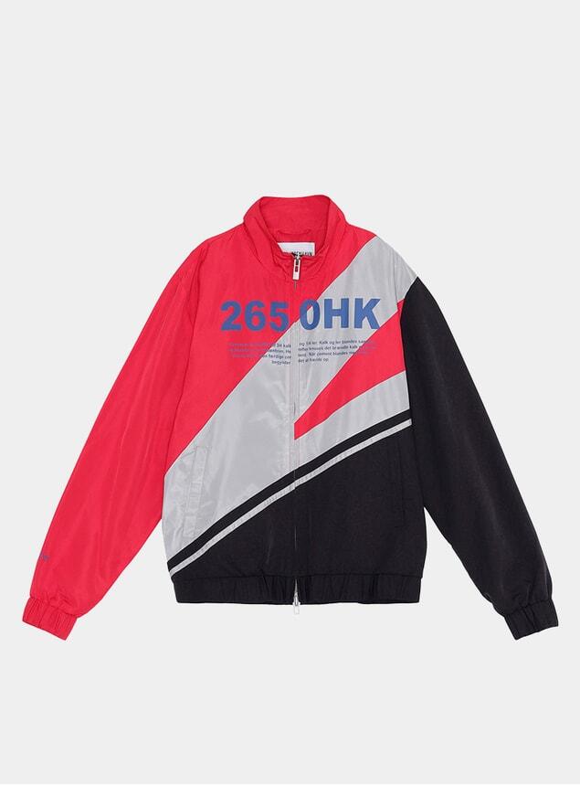 Black Colour Block Track Top Jacket