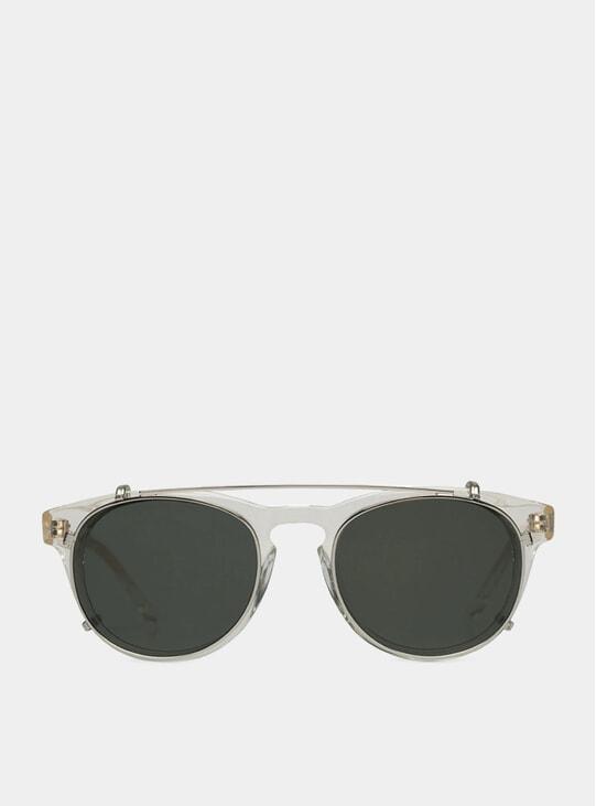 Champagne Clip-On Sunglasses