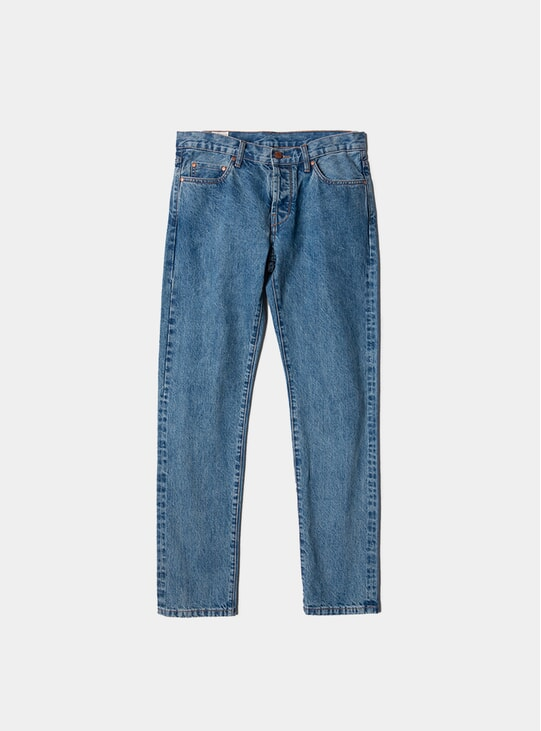 Heavy Stone Wash Tapered Jeans