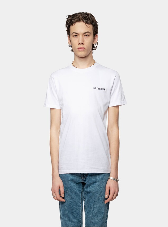 White Logo Casual T Shirt