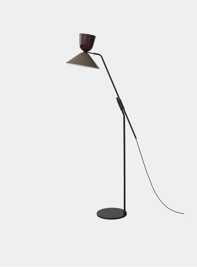 Black Red / Beige Grey Alphabeta Floor Lamp
