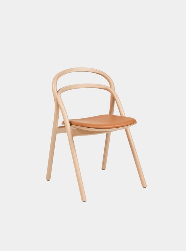 Natural / Cognac Upholstered Udon Chair