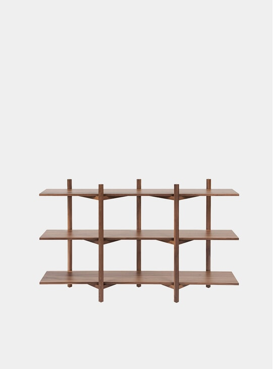 Walnut Zig Zag Low Shelf