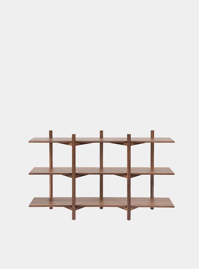 Walnut Zig Zag Low Shelf