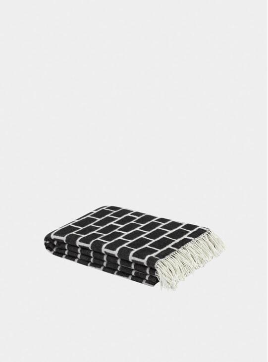 Black / White Brick Throw