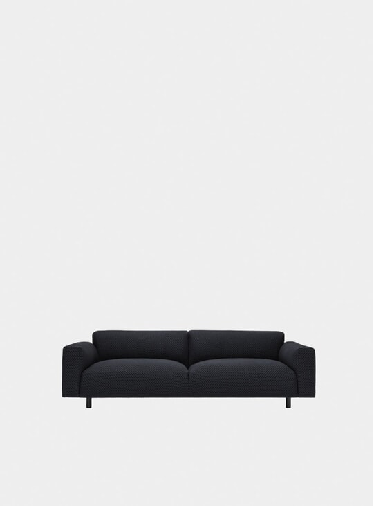 Charcoal Koti Three Seater Sofa