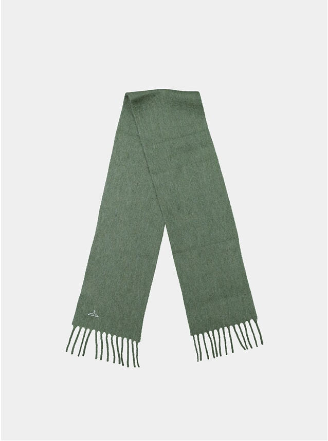 Loden Green Aster Solid Scarf