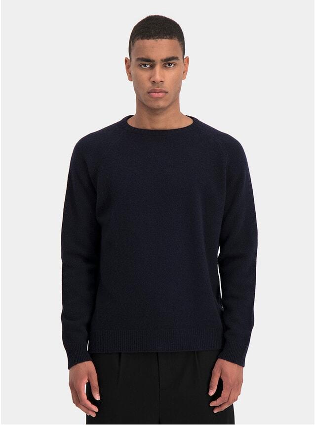 Navy Scruff Knit Sweater