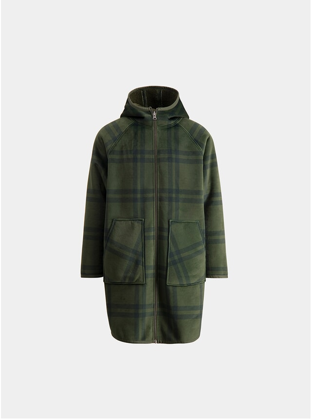 Olive Check Plant Coat