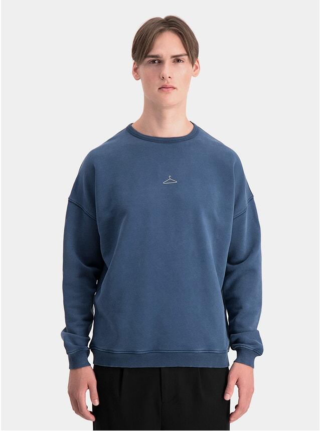Washed Navy Hanger Box Sweatshirt