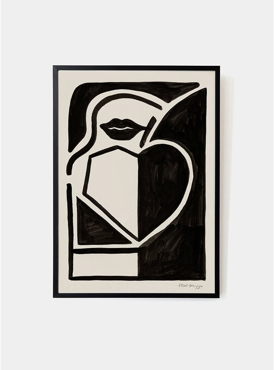 Black Apple Art Print