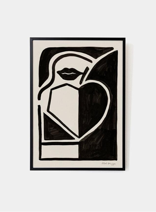 Black Apple Art Print