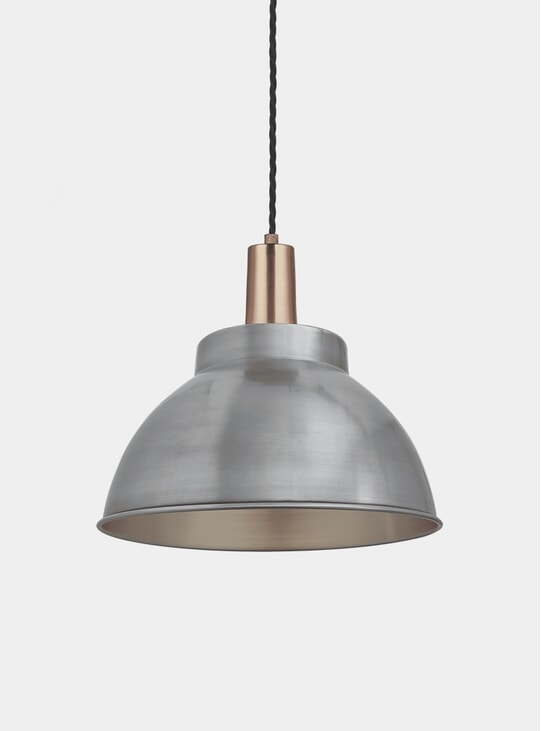 "13"" Light Sleek Dome Pendant Lamp"