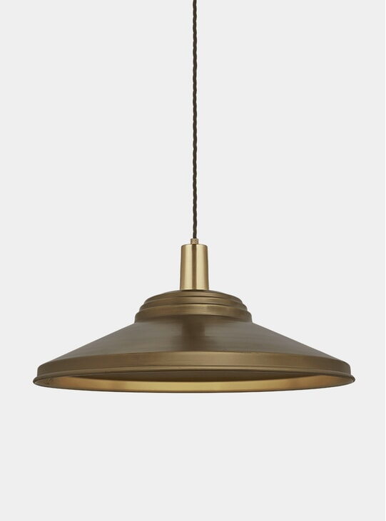Brass Sleek Giant Step Pendant Lamp