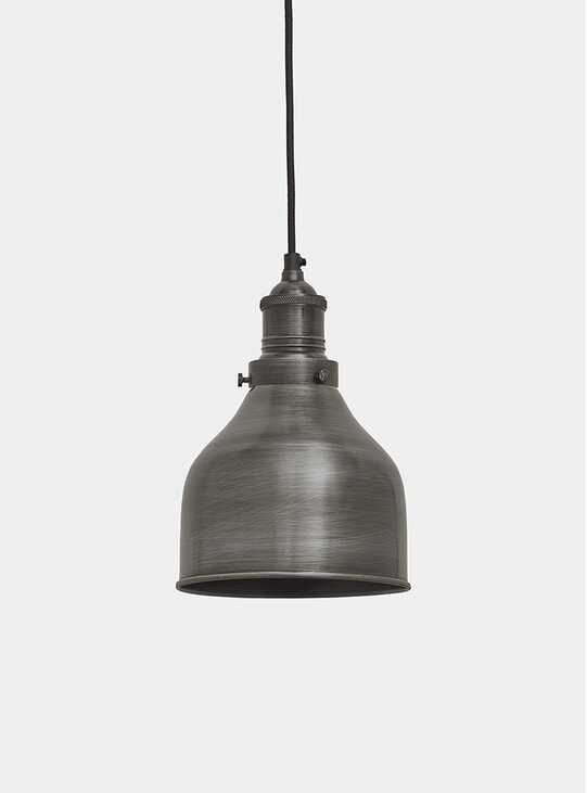 "7"" Pewter Brooklyn Cone Pendant Lamp"