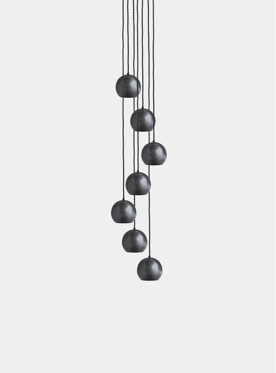 Pewter The Globe Collection Pendant Lamp