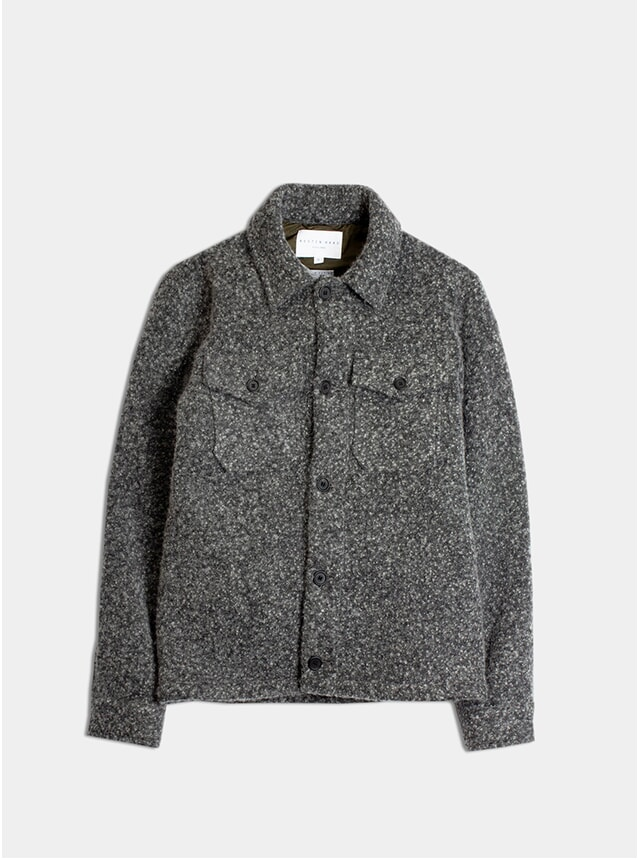 Charcoal Wool Field Overshirt